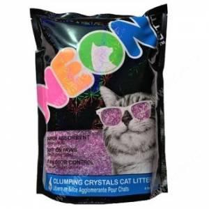 Наполнитель силикагелевый комкующийся Neon Litter, фиолетовый, 1,8 кг
