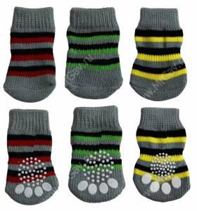 Носки для собак Triol, M, полосатые