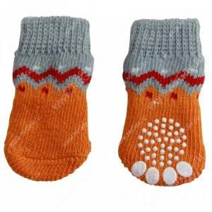 Носки для собак Triol Волна, M, оранжевые