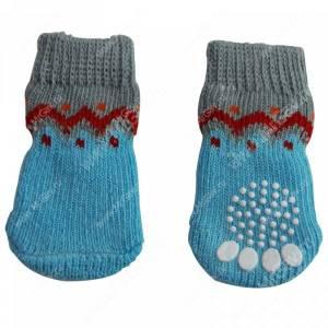 Носки для собак Triol Волна, S, голубые