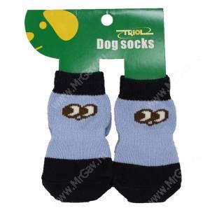 Носки для собак Triol, XL черно-голубые