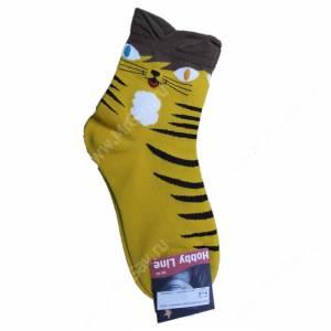 Носки женские Кошка, желтый, р. 36-40