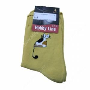 Носки женские Милые кошечки, желтый, р. 36-40