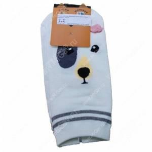 Носки женские Веселый щенок Дворняжка, белый, р. 36-40