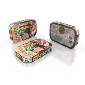 Новогодний набор для кошек консервы Мнямс на курице 4+2