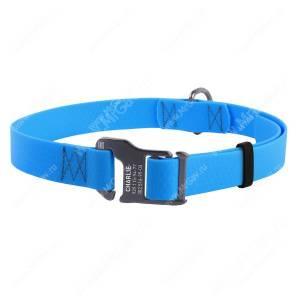 Ошейник биотановый Collar Waudog Waterproof, 50 см*2 см, голубой