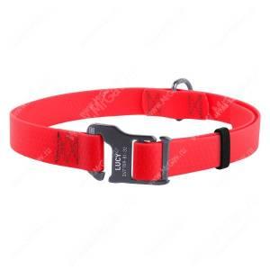 Ошейник биотановый Collar Waudog Waterproof, 50 см*2 см, красный