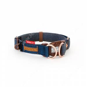 Ошейник EzyDog DOUBLE UP Denim, L, 59 см*2,5 см