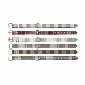 Ошейник кожаный Аркон Твид, 70 см*3,5 см, натуральный