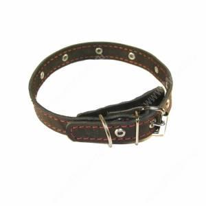 Ошейник кожаный Лаурон, 39 см*1,8 см, украшенный, черный