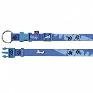 Ошейник нейлоновый Trixie Woof, 45 см*1,5 см, синий