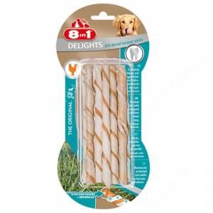 Палочки плетеные для собак для чистки зубов 8in1 Delights Pro Dental Twisted Sticks