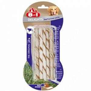 Палочки плетеные для собак с говядиной 8in1 Delights Beef Sticks Twisted