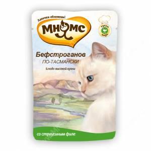 Пауч Мнямс Бефстроганов по-тасмански (с мясом страуса)