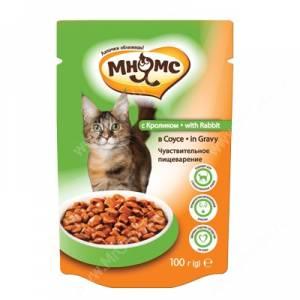 Пауч Мнямс для взрослых кошек с кроликом, 100 г