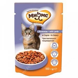 Пауч Мнямс для взрослых кошек с ягненком, 100 г