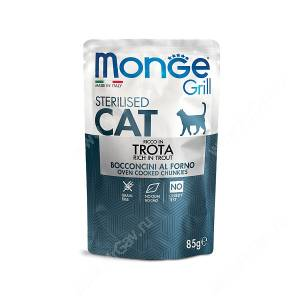 Пауч Monge Cat Sterilised Grill Pouch (Форель), 85 г