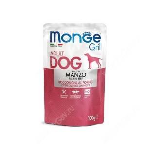 Пауч Monge Dog Grill Pouch (Говядина), 100 г