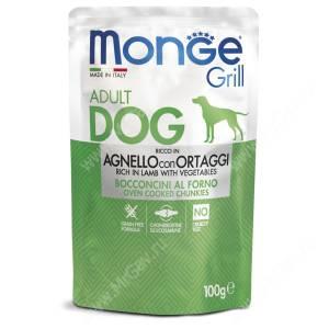 Пауч Monge Dog Grill Pouch (Ягненок с овощами), 100 г