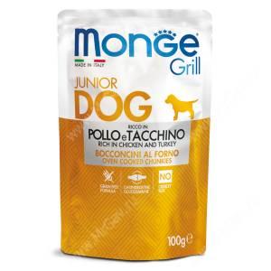 Пауч Monge Dog Grill Puppy&Junior Pouch (Курица и индейка), 100 г