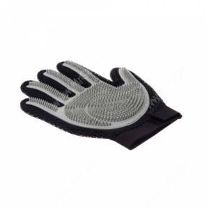 Перчатка силиконовая с шипами на рук V.I.Pet, большая серая