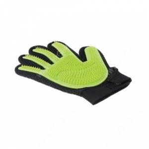 Перчатка силиконовая с шипами на рук V.I.Pet, средняя салатовая