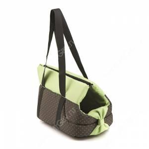 Переноска Comfy Lilly S, 35 см*20 см*24 см, с зелёными вставками