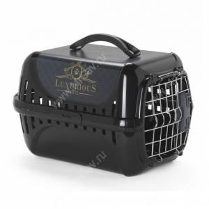 Переноска Moderna Luxurious, 49 см* 32 см*30 см, черная