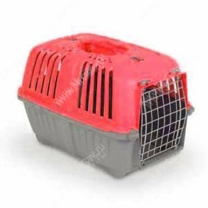 Переноска пластиковая MPS PRATICO, 48 см*31,5 см*33 см, красная