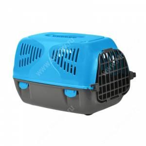 Переноска пластиковая MPS SIRIO LITTLE, 50 см*33,5 см*31 см, голубая
