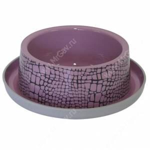 Пластиковая миска нескользящая Moderna Wildlife, 350 мл, розовая