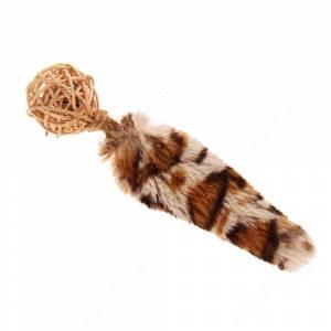 Плетеный мячик с колокольчиком и хвостом GiGwi, 13 см