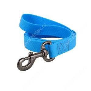 Поводок биотановый Collar Waudog Waterproof, 1,83 м*2,5 см, голубой