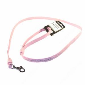 Поводок кожаный Ferplast Lux, 120 см*1,2 см, розовый