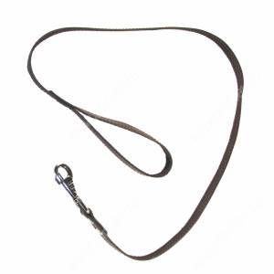 Поводок кожаный Лаурон, 125 см*2 см, однослойный, черный