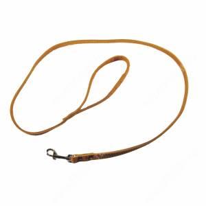 Поводок кожаный Лаурон, 130 см* 1,2 см, однослойный, коричневый