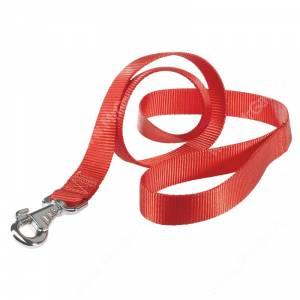 Поводок нейлоновый Ferplast Club, 120 см*1 см, красный