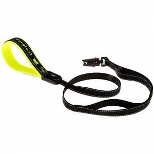 Поводок нейлоновый Ferplast Sport Dog Matic G, 120 см*2,5 см, желтый