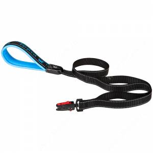 Поводок нейлоновый Ferplast Sport Dog Matic G, 120 см*2,5 см, голубой