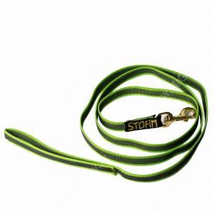 Поводок нейлоновый прорезиненный Storm, 2 см*1,5 м, зеленый