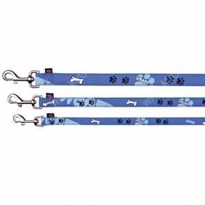 Поводок нейлоновый Trixie Woof, 120 см*1,5 см, синий