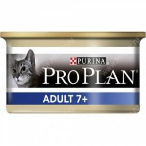 Pro Plan Adult Cat 7+ (Тунец), консерва, 85 г