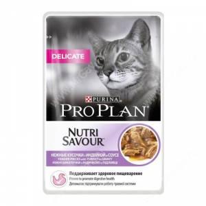 Pro Plan Delicate Cat (Индейка в соусе), пауч, 85 г