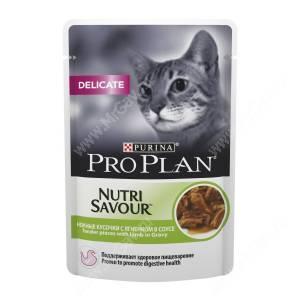 Pro Plan Delicate Cat (Ягненок в соусе), пауч, 85 г
