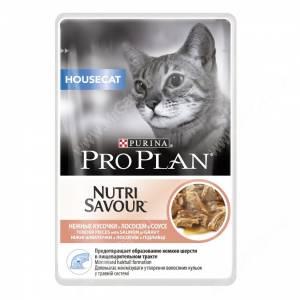 Pro Plan Housecat (Лосось в соусе), пауч, 85 г