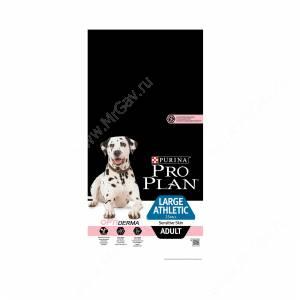 Pro Plan Large Adult Athletic Sensitive Skin (Лосось с рисом), 14 кг