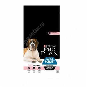 Pro Plan Large Adult Robust Sensitive Skin (Лосось с рисом), 14кг
