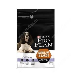Pro Plan Medium&Large Adult 7+ (Курица с рисом)