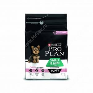 Pro Plan Small&Mini Puppy Sensitive Skin (Лосось с рисом)