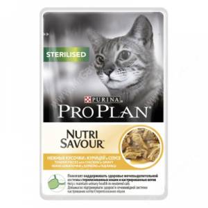 Pro Plan Sterilised Cat (Курица в соусе), пауч, 85 г